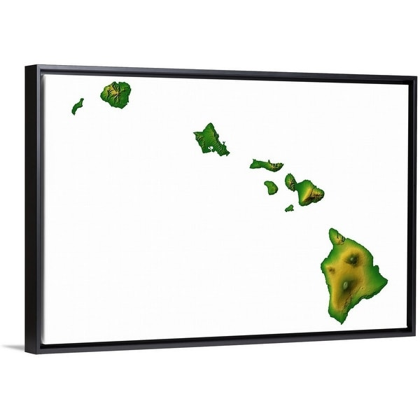 Shop Hawaii topographic map - Multi-color - On Sale - Free Shipping ...