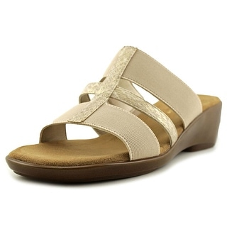 Aerosoles Flaunt   Open Toe Synthetic  Wedge Sandal