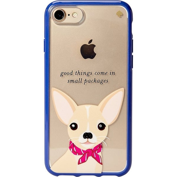 Kate Spade New York Women's Jeweled Chihuahua Phone Case for iPhone 7 & iPhone 8 Clear Multi Cellphone Case