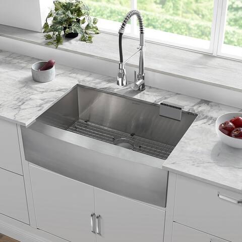 """Rivage 30 x 21 Single Basin Farmhouse Kitchen Sink - 30"""" x 21"""""""