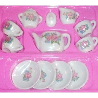 Rhode Island Novelty Toy Porcelain Tea Set, 13-Piece