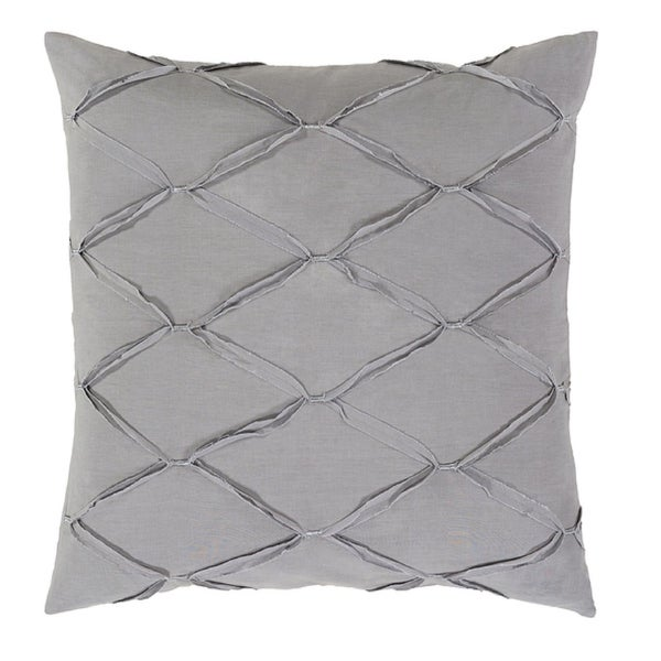 Set of Two Diamond Elegance Light Metal and Pewter Gray Euro Pillow Shams