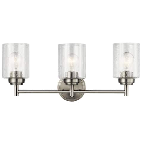 The Gray Barn Saffron 3-light Brushed Nickel Bath/Vanity Light - Brushed nickel