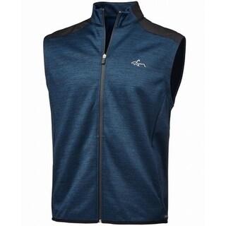 Greg Norman Blue Mens Size XL Hydrotech Full Zip Sleeveless Vest