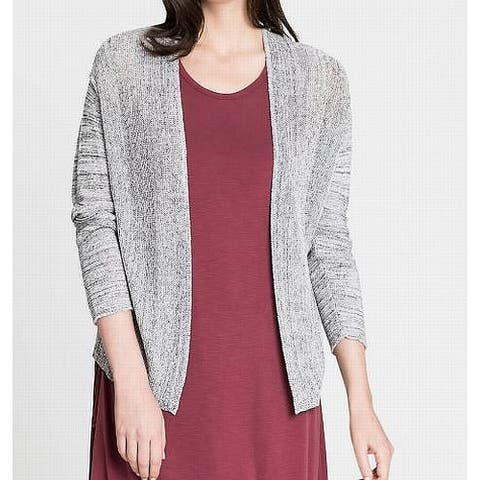 Nic + Zoe Women's Gray Size Medium M Open Front Knit Cardigan Sweater
