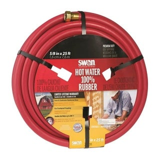"Swan SNCHW58025 Hot Water Rubber Hose, 5/8"" x 25'"