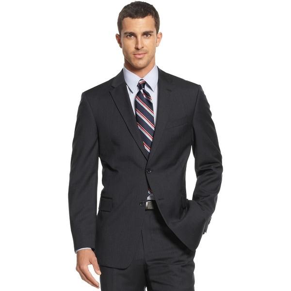 2f57f1fbb Tommy Hilfiger Mens Regular Fit Navy Striped Wool Sportcoat 42L Suit  Separate