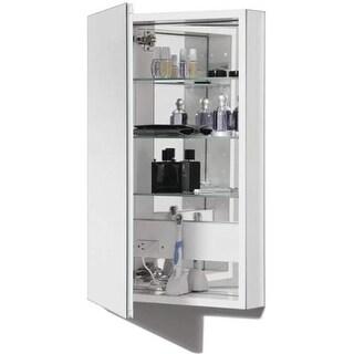 """Robern PLM2040W PL Series Single Door 19-1/4"""" x 39-5/8"""" Medicine Cabinet with Re"""