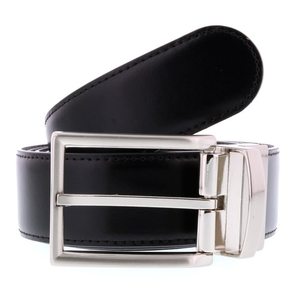 HS Collection HSB 4099 Black/Brown Reversible/Adjustable Mens Belt