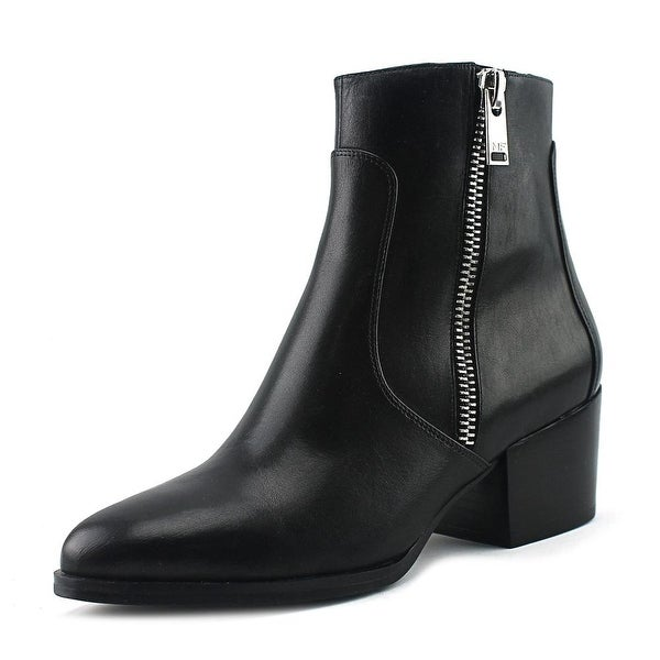Marc Fisher Blur Women Round Toe Leather Black Ankle Boot