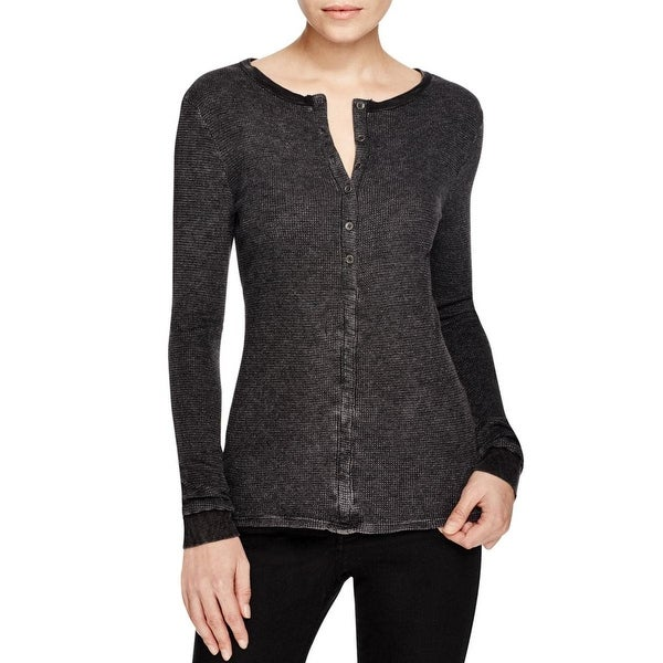 Project Social T Womens Henley Top Thermal Long Sleeves