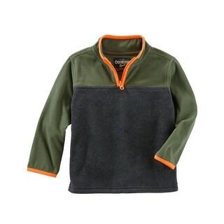 OshKosh B'gosh Baby Boys' Quarter-Zip B'gosh Fleece Cozies, 9 Months - Multi