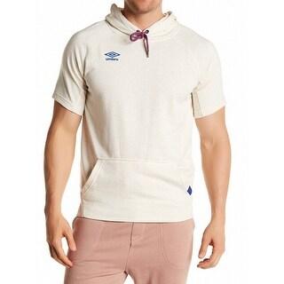 Umbro NEW White Ivory Men's Size Medium M Pullover Hooded Sweater
