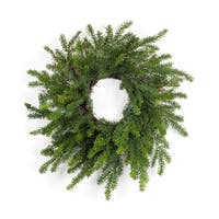 Pack of 2 Green Mini Artificial Pine Wreath Christmas Party Decorations 32""