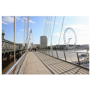 """Bridge and London Eye, London, England"" Poster Print"