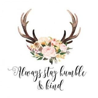 Always Stay Humble & Kind Poster Print by Tara Moss, 12 x 12 -