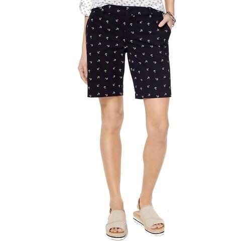 Tommy Hilfiger Blue Womens Size 16 Anchor Bermuda Walking Shorts
