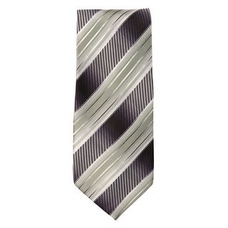 Marquis Men's Grey And Green Stripes 3 1/4 Tie & Hanky Set TH102-015 - regular