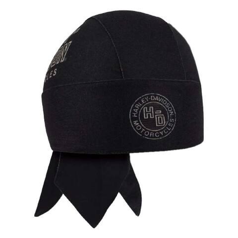 Harley-Davidson Men's Distressed Forged H-D Logo Headwrap, Black HW31930 - One Size