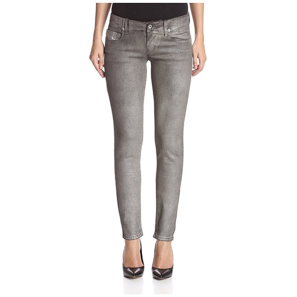 f1a64796 Shop Diesel Gray Womens Size 26x30 Grupee Super Skinny Stretch Jeans ...