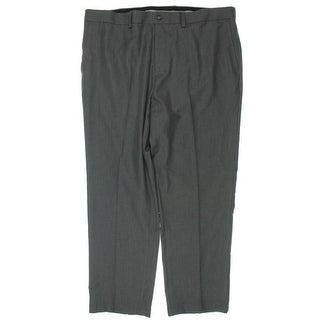 Greg Norman Mens Big & Tall Straight Leg Pants Twill Stretch - 42