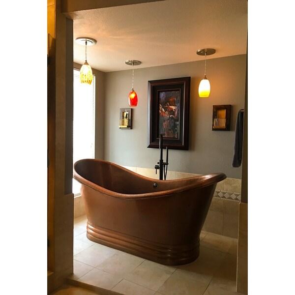 Shop Sinkology Euclid Freestanding Bathtub 6-foot Handmade Antique ...
