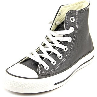 Converse Chuck Taylor Hi Women Round Toe Leather Black Sneakers