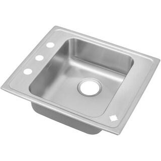 "Elkay DRKAD222055 22"" Single Basin Drop In Stainless Steel Utility Sink"