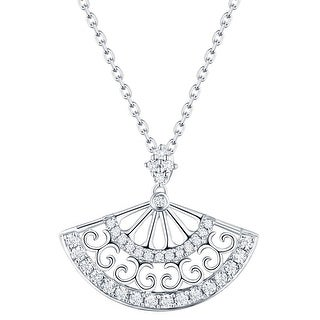 Prism Jewel 0.28Ct G-H/I1 Natural Diamond Hand Fan Style Pendant (3 options available)