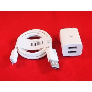 OEM Motorola Dual Cube Home Wall Charger + USB Data Cable for Motorola Droid Raz