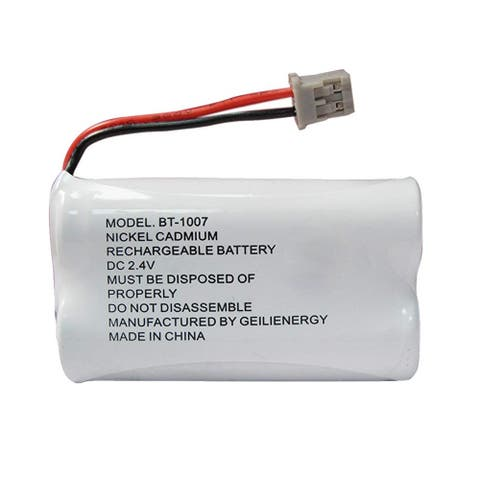 Replacement Battery For Uniden DECT1363B Cordless Phones - BT1007 (600mAh, 2.4V, Ni-MH) - White