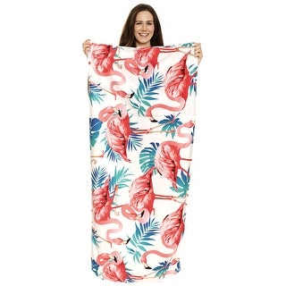 Link to Soft Cotton Towels Flamingo Print Beach Towels Lightweight Drawstring Bag 2 In 1 Similar Items in Towels