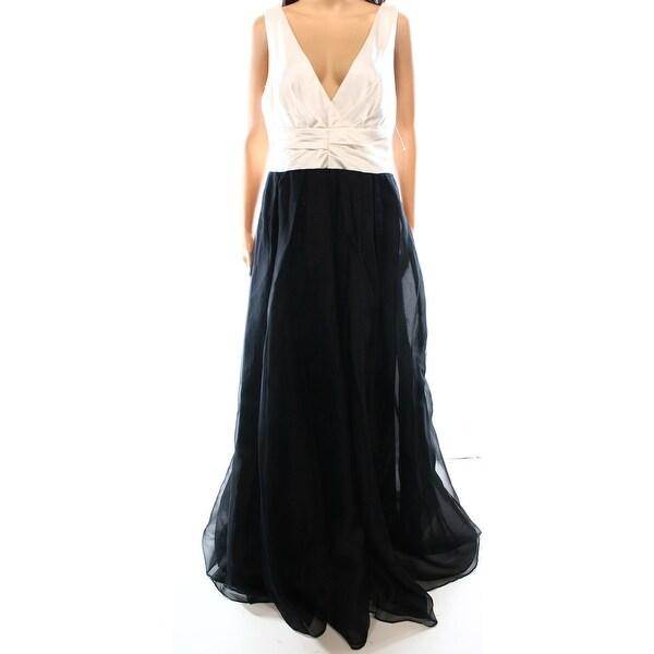 Shop Vera Wang NEW Black White Women\'s Size 8 V-Neck Colorblock Ball ...