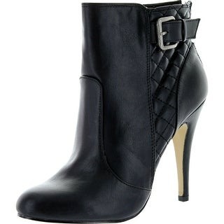 Madden Girl Womens Arianna Heel Fashion Booties - black paris