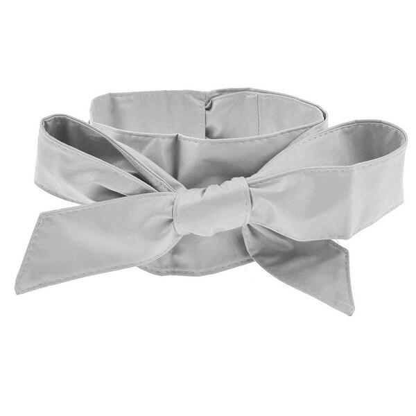 Unique Bargains Tasharina Women Wrap Around Tie Corset Bowknot Wide Waist Belt Gray