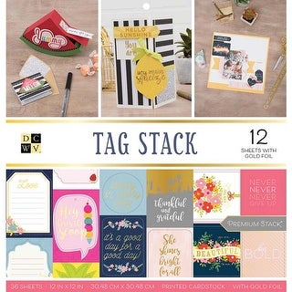 """Tag Stack - Dcwv Double-Sided Cardstock Stack 12""""X12"""" 36/Pkg"""