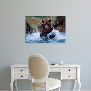 Easy Art Prints Charles Sleicher's 'Alaskan Brown Bear' Premium Canvas Art
