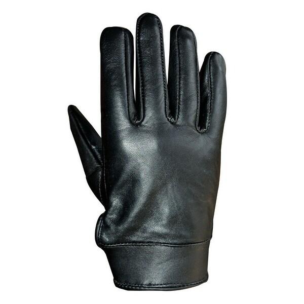 Unisex Soft Lambskin Leather Driving, Dress Fashion Everyday Gloves Black FG4
