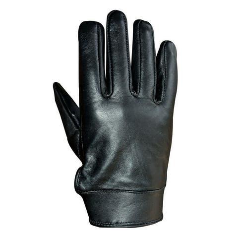 Unisex Soft Lambskin Leather Driving, Formal Dress Fashion Everyday Gloves Black FG4