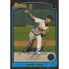 David Cash San Francisco Giants 2003 Bowman 1st Year Card Autographed Card  This item comes with a