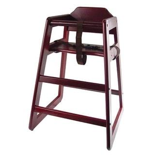 Winco   CHH 103   Mahogany Finish Wood High Chair