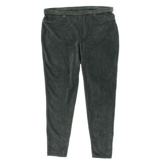 Style&co. Womens Plus Velour Flat Front Leggings - 1X