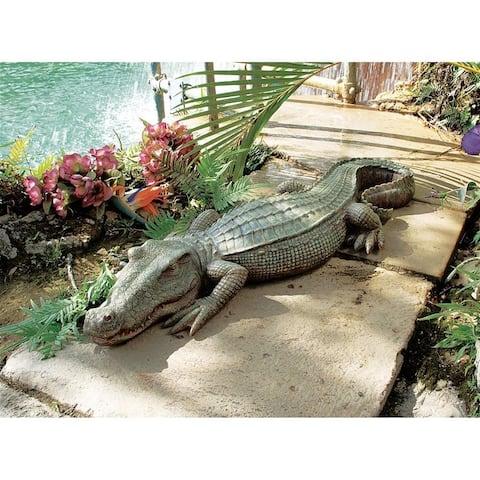 Swamp Beast Crocodile Statue Nr