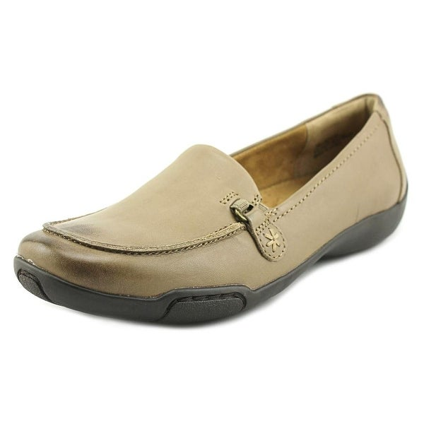 Array Addie Women Moc Toe Leather Gray Loafer