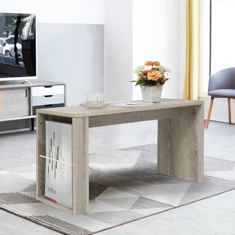 Homylin Simple Modern Coffee Table with Storage