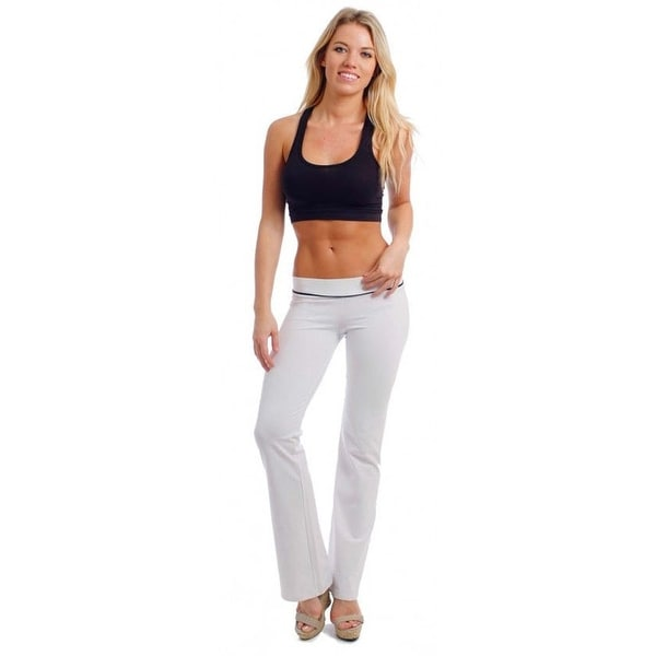 bf11f78c18875 Women's Juniors White Yoga Pants Cute Comfy Fitness Athletic Workout  Gym Wear
