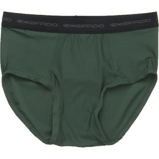 Exofficio Give-N-Go Briefs, Mens Underwear, Petrol Green, Small - petrol (dark green)
