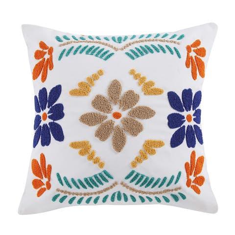 HiEnd Accents Bonita Floral Outdoor Pillow, 20x20