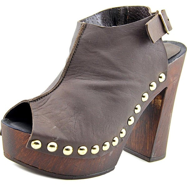 Charles David Ciao Women Open Toe Leather Platform Sandal