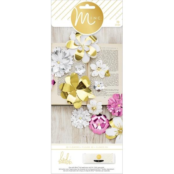 Minc 3D Paper Flowers 70/Pkg-